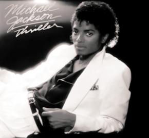 Michael Jacskon na přebalu alba Triller.